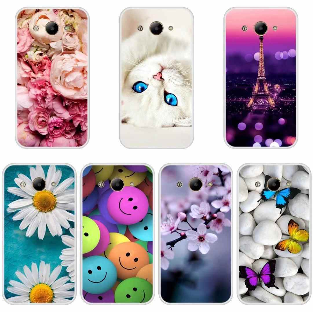 Phone Case for Huawei Y6 Y7 Y9 Prime 2018 Soft Silicone TPU Cute Cat Painted Back Cover for Huawei Y3 Y5 Y6 2017 II Pro Case