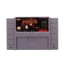 Nintendo sfc/snes игры картридж консоли карты final fantasy iii сша английская версия