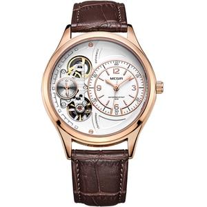 Image 5 - MEGIR Original Men Watch Top Brand Luxury Quartz Watches Relogio Masculino Leather Military Watch Clock Men Erkek Kol Saati 2017