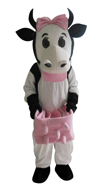 Dairy Cow Mascot Costumes Picture Adults Christmas Halloween Outfit Fancy Dress Suit Free Shipping 2019New