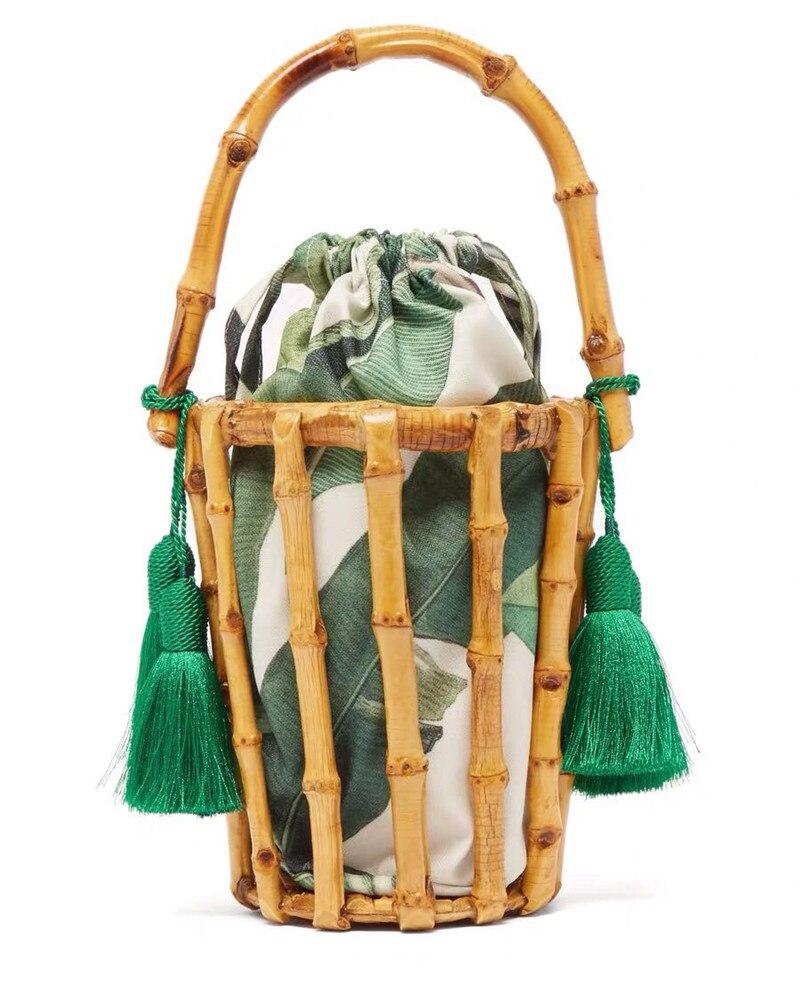 Женские сумки, дизайнерская тканая сумка ручной работы с кисточками, Бамбуковая сумка, сшитая сумка клатч, сумка мешок, открытая пляжная сум