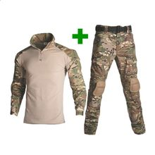 Tactical Paintball Military Men Army Sport Uniform Camouflage Combat Suit Multicam Clothing Hunter Fishing Shirt Pants
