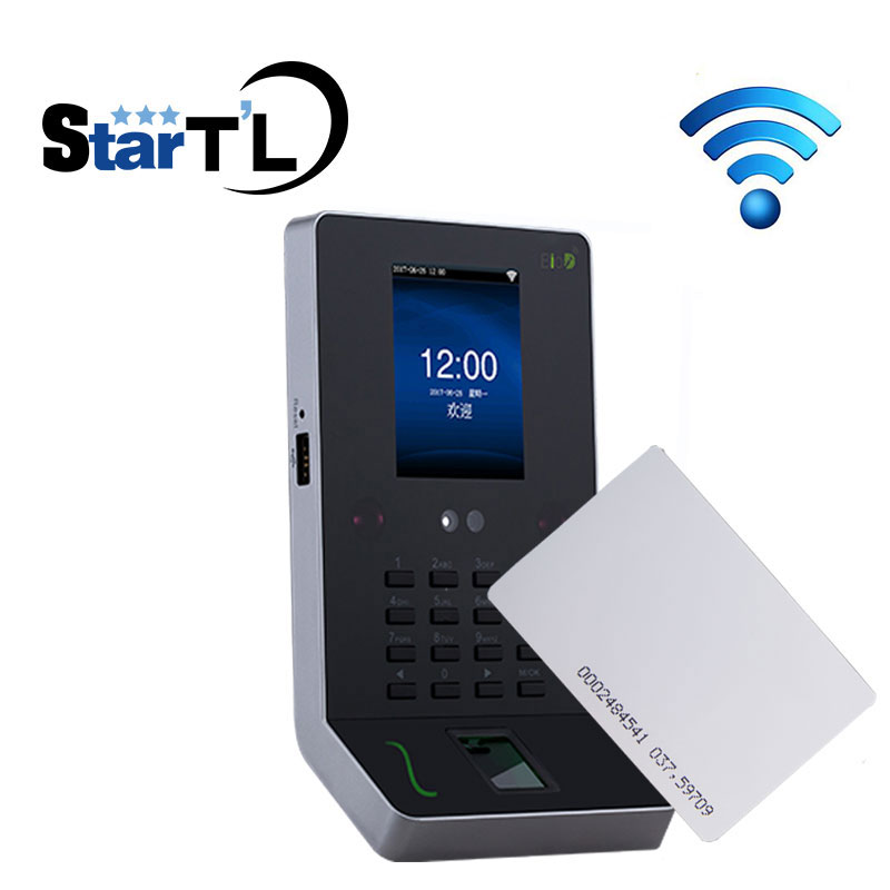 Free Shipping Fingerprint Time Attendance and RFID 125Khz Card Biometric Employee Tracking System ZK UF600 high speed zk fingerprint time attendance terminal iclock360 125khz em id card punch card and fingerprint time clock system