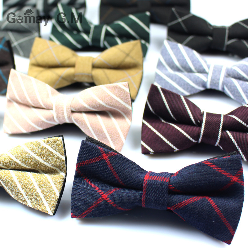 Newest Cotton Mens Bow Tie Brand Classic Plaid Ties Bowtie Leisure Business Shirts Bowknot Bow Ties Cravats Accessories