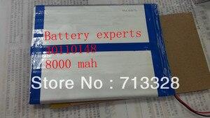 Оригинальный литий-ионный аккумулятор 3,7 в 8000 мач (прибл.) для четырехъядерного процессора Sanei N10, четырехъядерный AMPE A10, двухъядерный планшет...