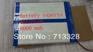Original Li-ion Battery 3.7 v 8000 mAH (Aprox) para N10 Sanei Quad Core, a10 AMPE Quad Core, Dual Core 3G Tablet PC 40*110*148 milímetros