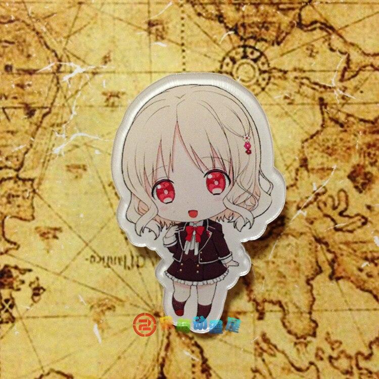 15pcs set diabolik lovers komori yui sakamaki ayato kanato laito shu reiji acrylic vampire story anime fans badge brooch badge in brooches from jewelry