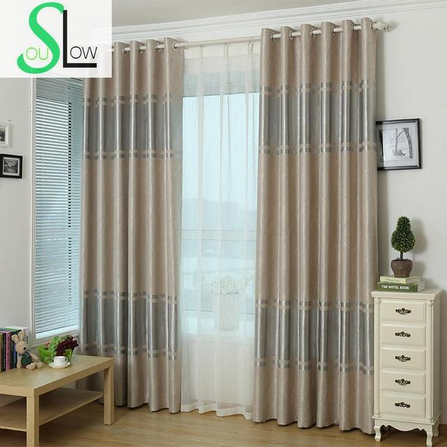 Slow Soul Beige Light Blue Pink Burgundy Modern Simple Curtain Cortinas Curtains For Living Room Kitchen