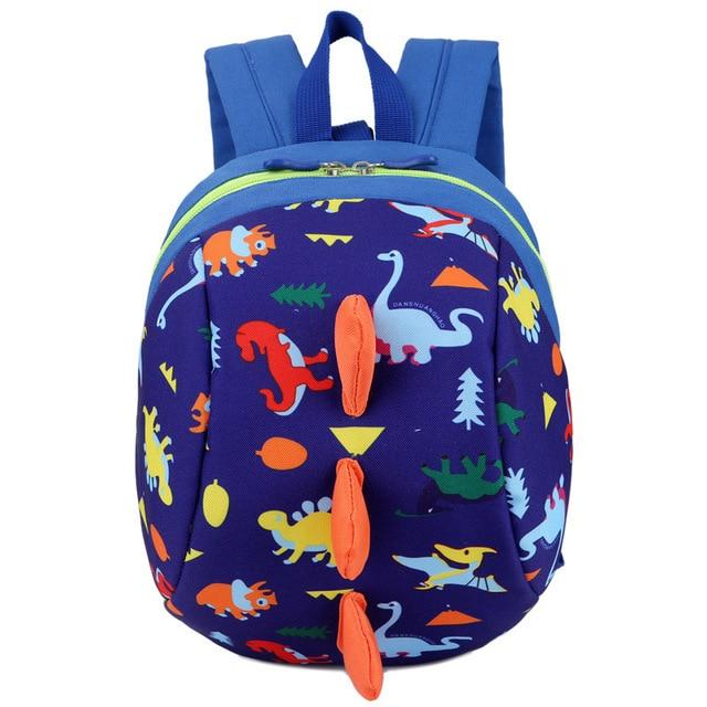 Toddler Kids Backpack Children Cartoon Dinosaur Schoolbag Anti-Lost Shoulder Bag