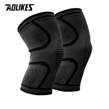 1 Pair Nylon Elastic Sports Knee Pads Breathable Knee Support Brace Running Fitness Hiking Cycling Knee Protector Joelheiras cheap Adult Aolikes C-7723 Nylon Spandex Silicone M L XL XXL XXXL Black Green Red Blue Orange Basketball Volleyball Cycling Football Running