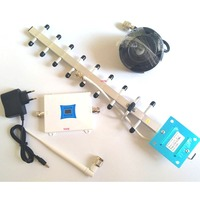 cell phone wcdma 3g 2100mhz signal booster, 3g signal repeater with LCD display, 3G mobile phone signal amplifier yagi antenna