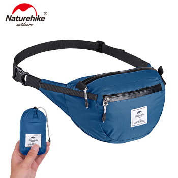 Naturehike Lightweight Water-resistant Waist Pack Travel Outdoor Sports Bag Hiking Running Mini Waist Bag  NH18B300-B naturehike yb02 multifunctional outdoor nylon waist bag blue gray 3l