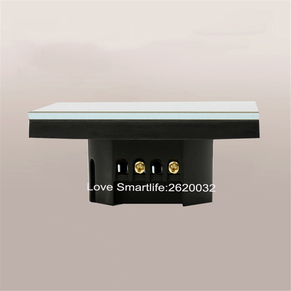 EUUK Standard SESOO Touch Switch 1 Gang 1 Way,Crystal Glass Switch Panel,Single FireWire Touch Sensing Wall Light Switch-5