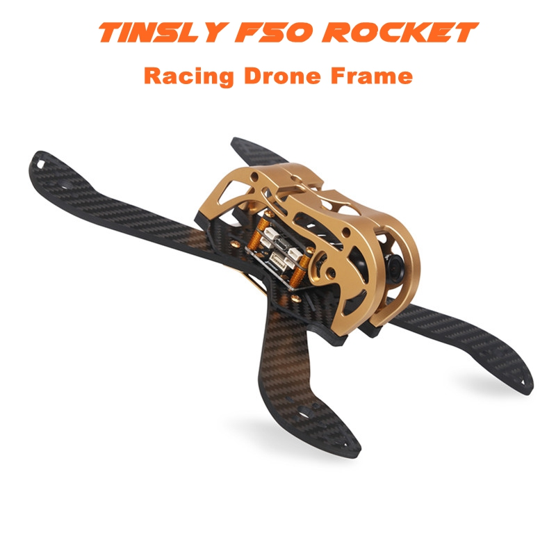 Tinsly F50 Rocket 230mm FPV Racing Frame Kit 4mm Arm w/ 5V & 12V PDB Supports 5 Inch Propellers for RC Racer Drone Quadcopter high quality fpv racing 6 inch propellers prop protectors guard for 250 quadcopter page 4 href