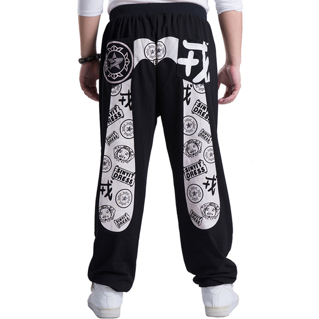 SINYIT 2016 Fashion Brand Clothing Plus Size Baggy Loose Joggers Hip Hop Harem Printing Men Pants Sweatpants Leggings Trousers