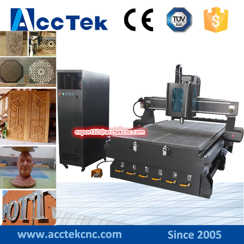 Hot sale model AKM1325C automatic tool 3d wood carving machine price China cnc router /3d wood art machine