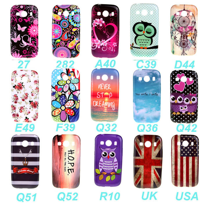 New Arrival Fashion Colorful Flower Soft TPU Silicone Cover Phone Case For Samsung Galaxy Ace