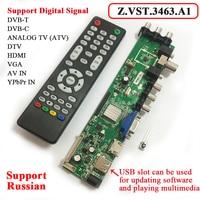 Z VST 3463 A1 Support Digital Signal DVB C DVB T T2 Universal LCD TV Controller