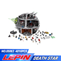 05063 4016 шт. Force Waken UCS Death Star Обучающие строительные блоки кирпичи Звездные войны игрушки для детей Совместимые