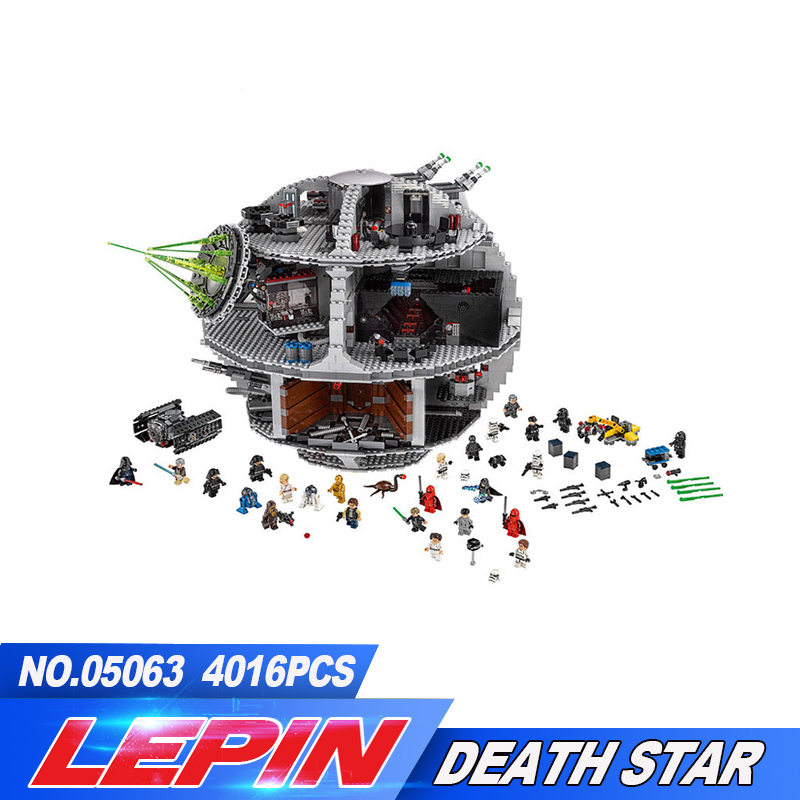 2017 New Lepin 05063 4016pcs Star War Force Waken UCS Death Star Educational Building Blocks Bricks Toys Compatible legoed 75159 lepin 22001 pirate ship imperial warships model building block briks toys gift 1717pcs compatible legoed 10210