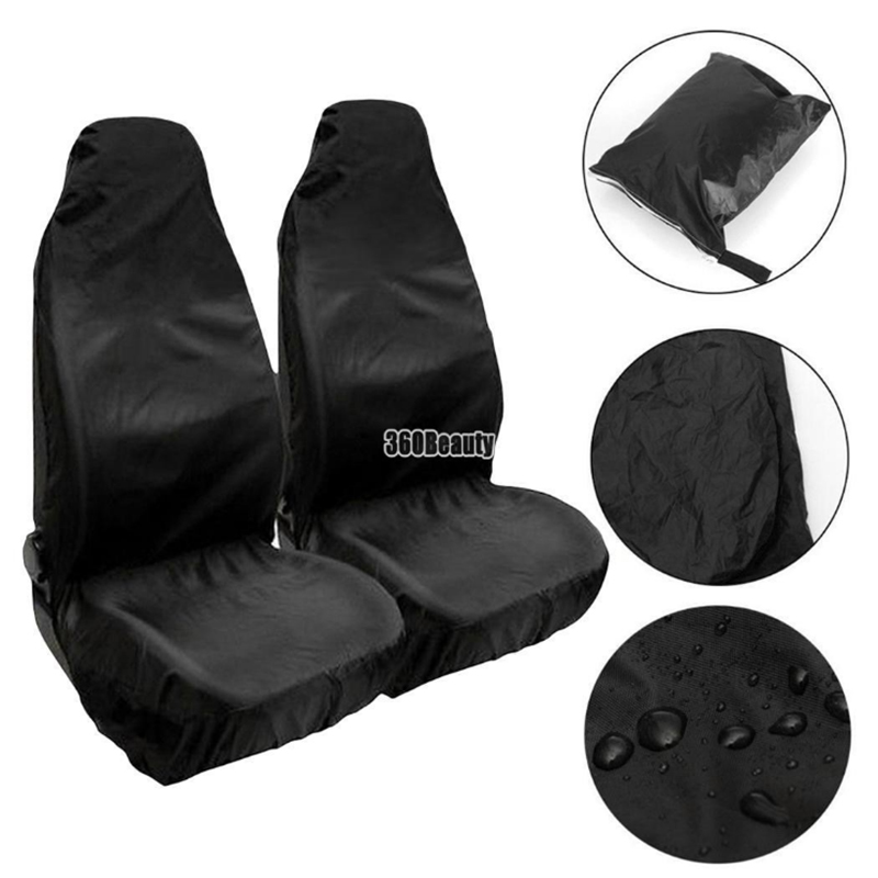 Swell Us 9 7 39 Off 2 Pcs Waterproof Front Car Seat Covers Universal Anti Dirty Wear Resistant Protective Auto Seats Fit For Most Cars Trucks Suvs In Pabps2019 Chair Design Images Pabps2019Com