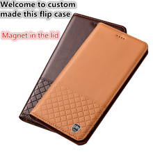 SS03 Genuine leather phone case with card slot for OnePlus 7 Pro(6.67′) case for OnePlus 7 Pro flip case free shipping