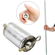 1.1M Portable Pocket Walking Sticks Telescopic Pen Stick Retractable Protection Walking Sticks Outdoor Tool Camping Hiking Climb a single silver walking sticks hight quality walking aid forearm crutch for camping hiking outerdoor sports