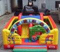 2016 раздувной хвастун слайд комбо для продажи/открытая площадка, надувной батут для детей и взрослых