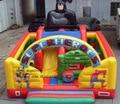 2016 bouncer inflável combinação de slides para venda/recreio ao ar livre trampolim inflável para as crianças e adultos