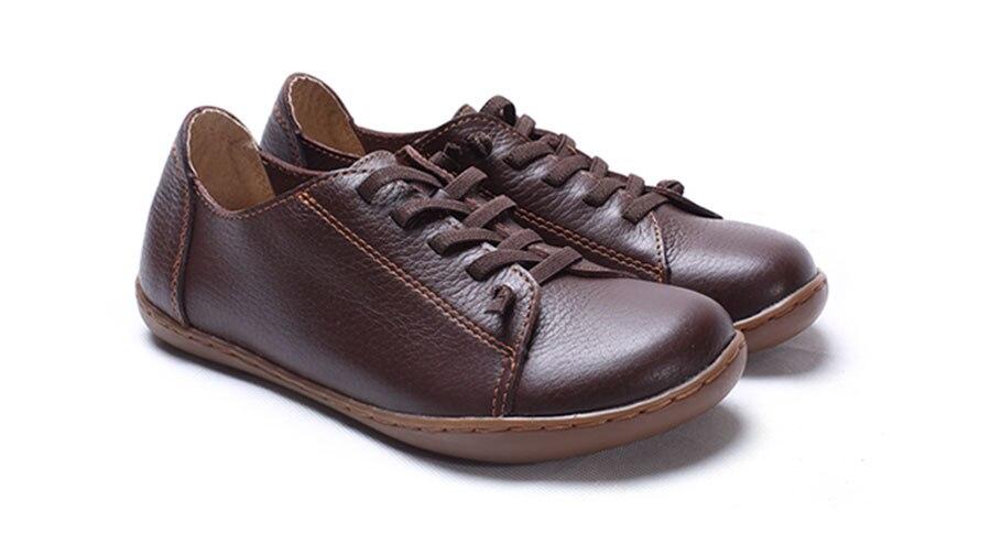 (35-42)Women Shoes Flat 100% Authentic Leather Plain toe Lace up Ladies Shoes Flats Woman Moccasins Female Footwear (5188-6) (35-42)Women Shoes Flat 100% Authentic Leather Plain toe Lace up Ladies Shoes Flats Woman Moccasins Female Footwear (5188-6) HTB1QUS