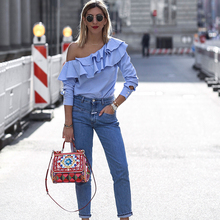 Blus Off-The-Shoulder Street-Tinggi Musim