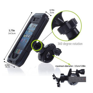 Image 3 - Motorcycle Bicycle Phone Holder Bag for iphone XS Max 8 7 Plus 11 Pro Waterproof Case Mobile Support Bike Handlebar Holder Stand