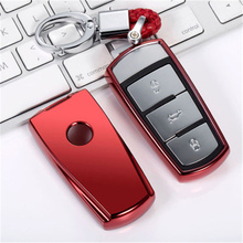 Wear resistant Soft Tpu Car Key Cover Case Shell FOB For Volkswagen VW CC Passat B6 B7 3C Maogotan R36 B5 B7L New