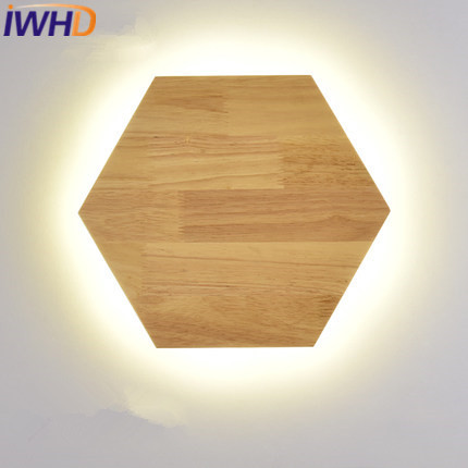 IWHD Wood Modern Wall Sconces Led Wall Lamp Fashion Bedroom Stair Light Fixtures Home Lighting Arandelas De Pared Wanglamp modern lamp trophy wall lamp wall lamp bed lighting bedside wall lamp