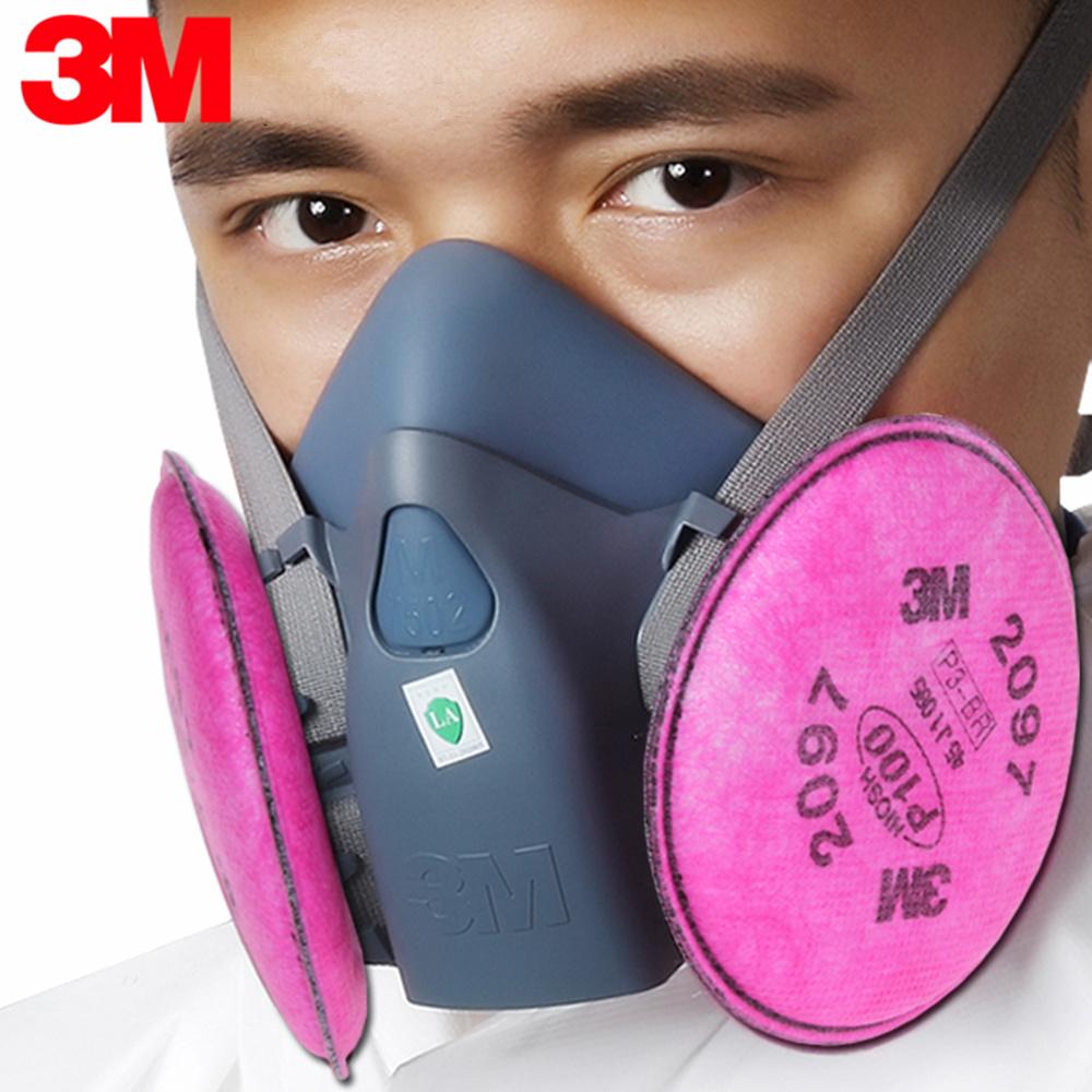 Reusable Protection Vapor Organic Respirator Half Nuisance P100 3m Mask 2097 Respiratory Lt025 Level Facepiece Relief 7502