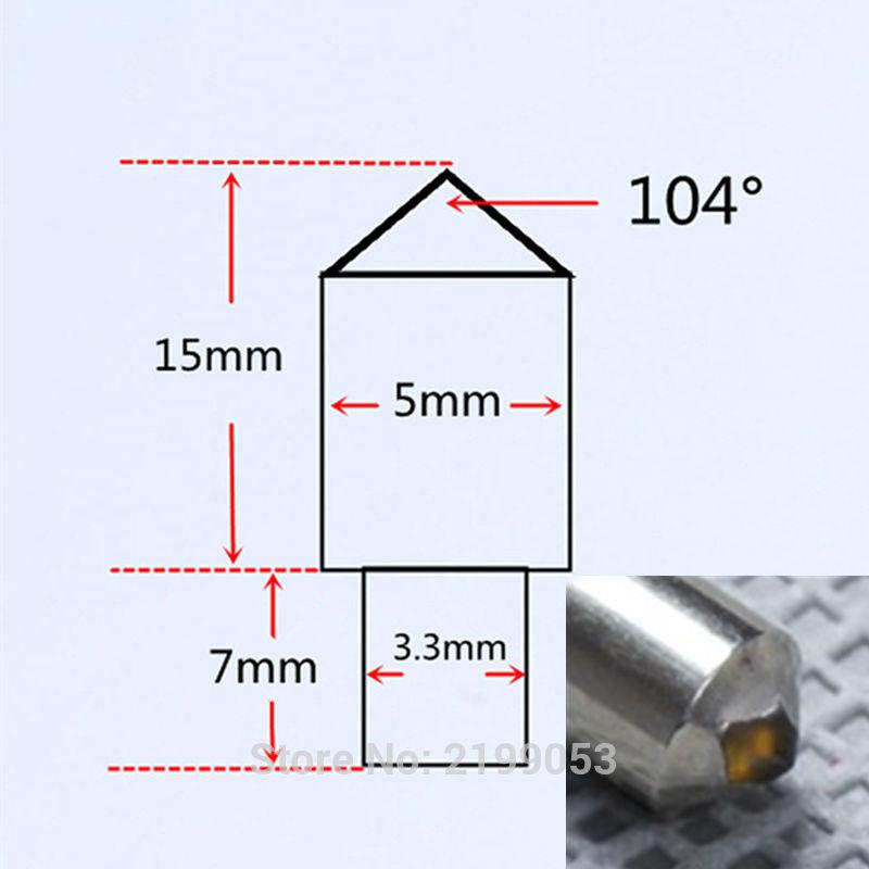 100tk / part YIYAN kollane teemantpunkt Teemantnõelad - Elektritööriistade tarvikud - Foto 3