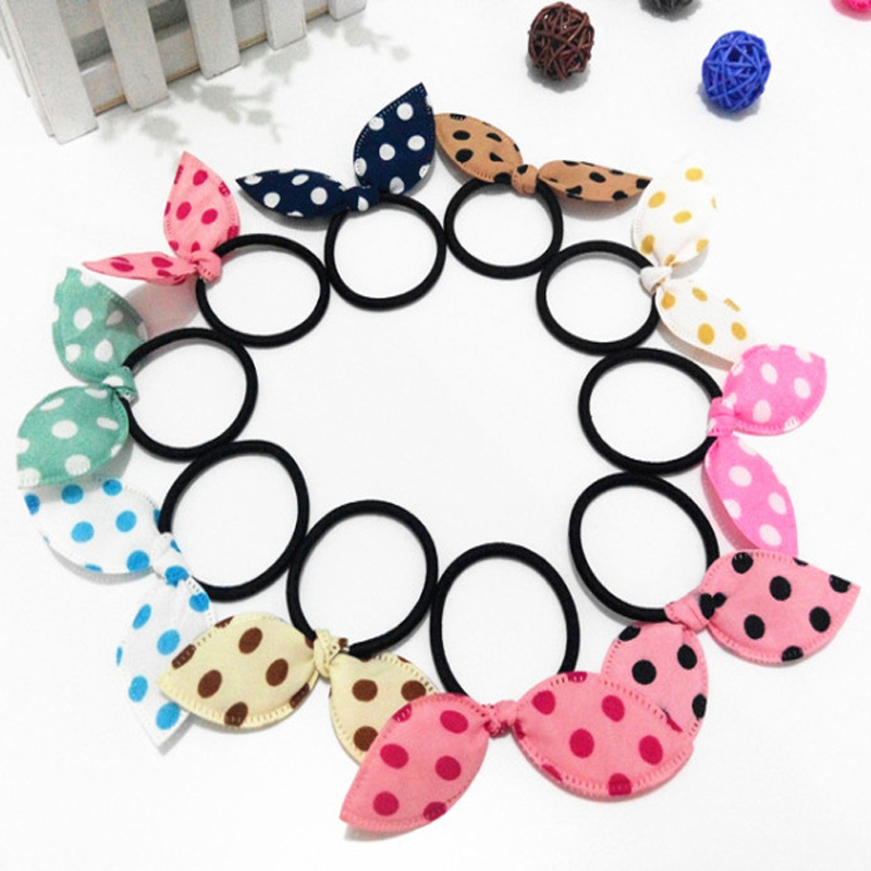 10Pcs Girls Elastic Hair Bands Tie Rope Scrunchy Hair Accessories To Weave Hairstyles Ponytail Holder Headwear Hair Styling 2016 sale new arrival headband korean flower cartoon girls elastic hair bands accessories rope ties princess gift 6 pcs