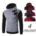 Новый 2016 мужская мода color matching капюшоном флис склонны молния глава флисовой куртки