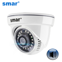 Mini HD 720P 960P IP Camera Audio Input With External Pickup Microphone Security Dome Indoor Camera