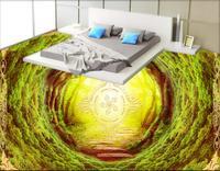 Hollow Tunnel Fashion 3d Floor Tiles Custom Bathroom Vinyl Flooring Waterproof Self Adhesive 3d Floor Wallpaper