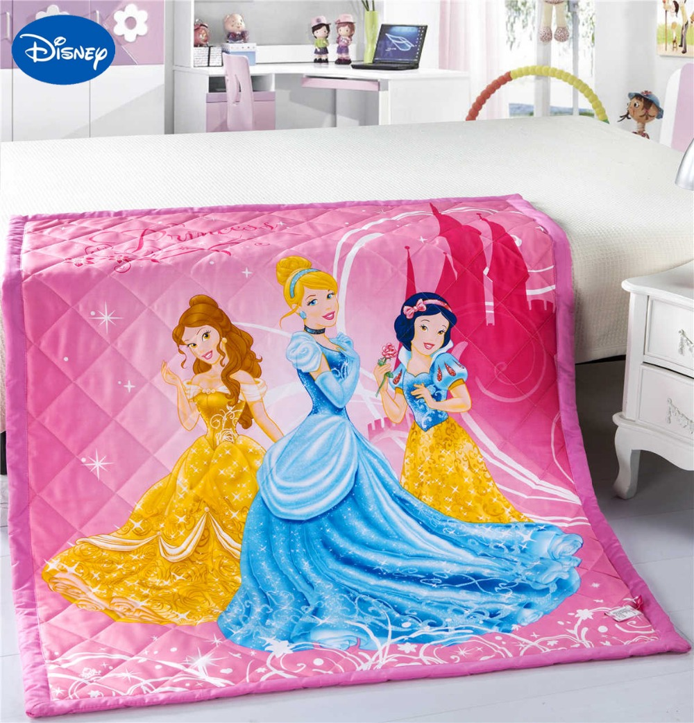 Winnie the pooh toddler bedding - Pink Color Cartoon Princess Quilt Comforters Disney Bedding Cotton Wowen 120 150cm Baby Girls Cot