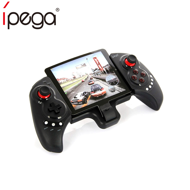 the latest 2263a ed113 US $21.99 25% OFF|iPEGA PG9023 Bluetooth Game Controller Gamepad Telescopic  Stand Design Joystick with Stretch Bracketfor iPhone6 Plus iOS Android-in  ...