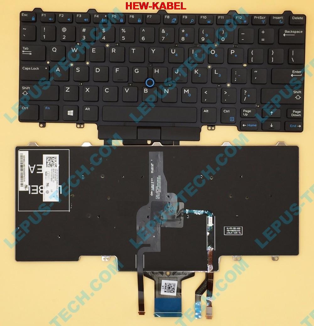 Original US Tastatur für DELL Latitude E3340 E5450 3340 E7450 tastatur mit hintergrundbeleuchtung trackpoint Englisch tastatur