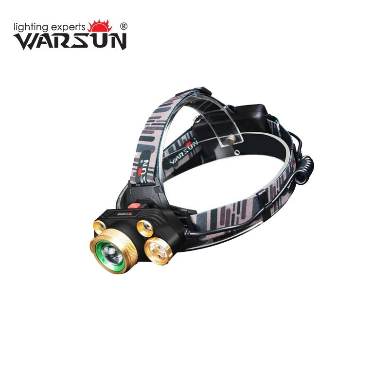 WARSUN XML T6 1600Lm Headlamp Lanterna LED Lampe Front Lamp Headlamp Outdoor Camping Bike Hunting Fishing