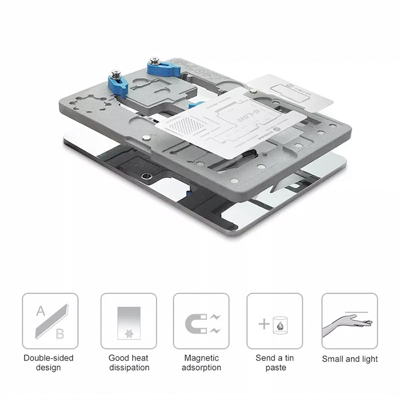 G LON SS 601K mobile phone repair motherboard fixture for iphone X XS XS MAX Duble