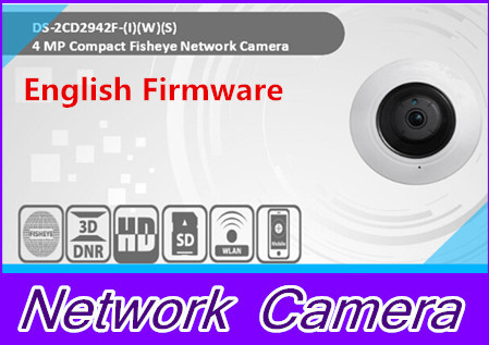 English version DS-2CD2942F-IWS 4MP wifi Fisheye Network ip security Camera with Fisheye & PTZ view free shipping in stock new arrival english version ds 2cd2142fwd iws 4mp wdr fixed dome with wifi network camera