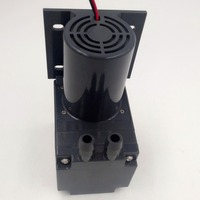 60L/M electric diaphragm brush dc motor low pressure high flow air pump 12/24V