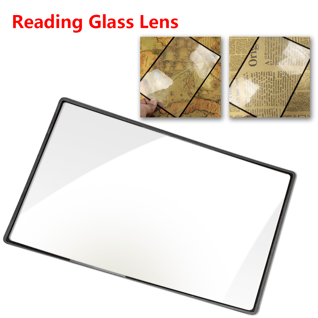 Magnifying Reading Glass Lens 180X120mm Convinient A5 Flat PVC Magnifier Sheet X3 Book Page Magnification 3x large reading magnifier big a4 full page sheet magnifying glass book reading lens page reading glass lens magnification