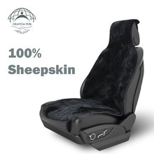 OKAYDA YH Seat Cover car Front Sheepskin Short fur free shipping Universal Black Color Covers Suitable for Most Cars 1pc