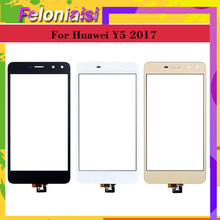 цена 10Pcs/lot For Huawei Y5 2017 Y5III MYA-L22 MYA-L23 Touch Screen Touch Panel Sensor Digitizer Front Glass Outer Lens Touchscreen